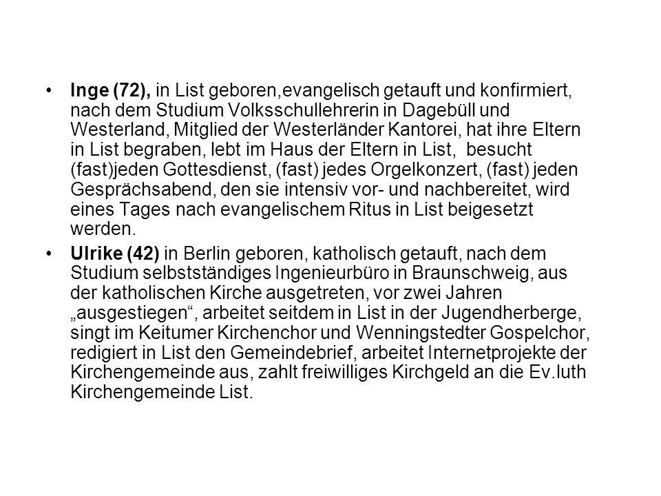 Interview mit Ulrike: Nordelbische Kirchenzeitung Nr.