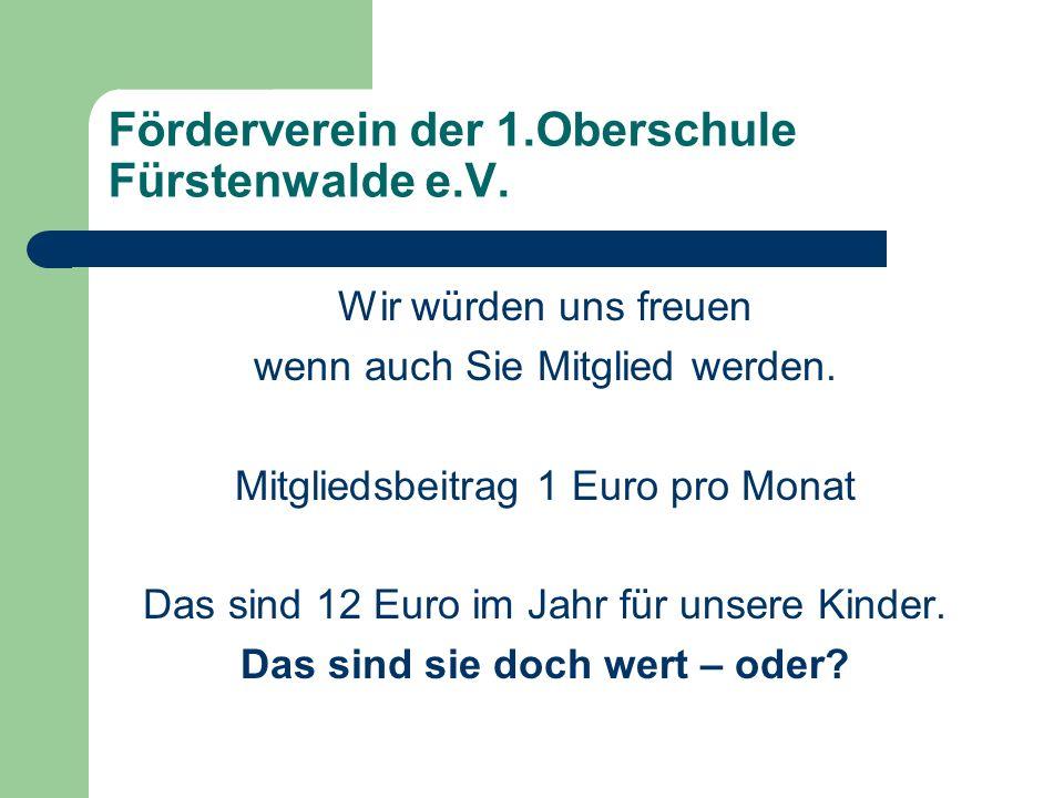 Förderverein der 1.Oberschule Fürstenwalde e.V.