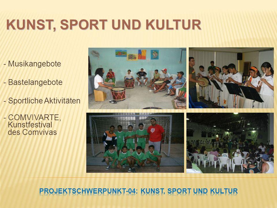 - Musikangebote - Bastelangebote - Sportliche Aktivitäten - COMVIVARTE, Kunstfestival des Comvivas KUNST, SPORT UND KULTUR