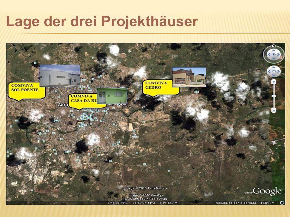 Lage der drei Projekthäuser