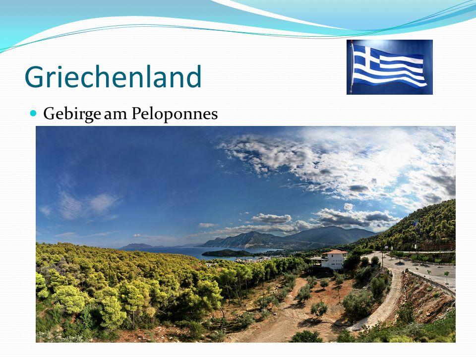 Griechenland Gebirge am Peloponnes