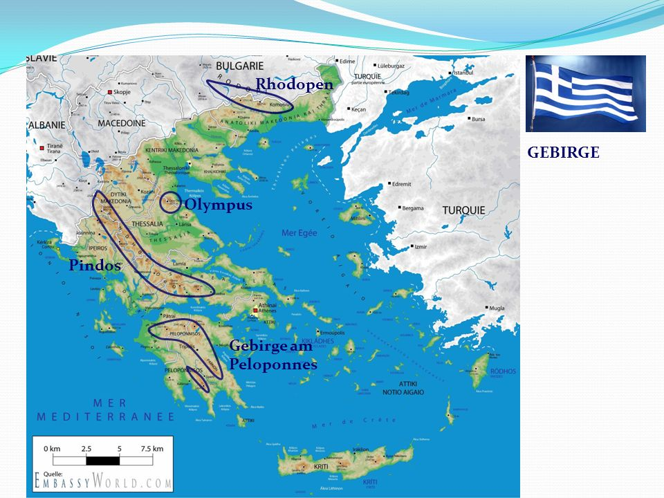 Griechenland Rhodopen Gebirge am Peloponnes Olympus Pindos GEBIRGE