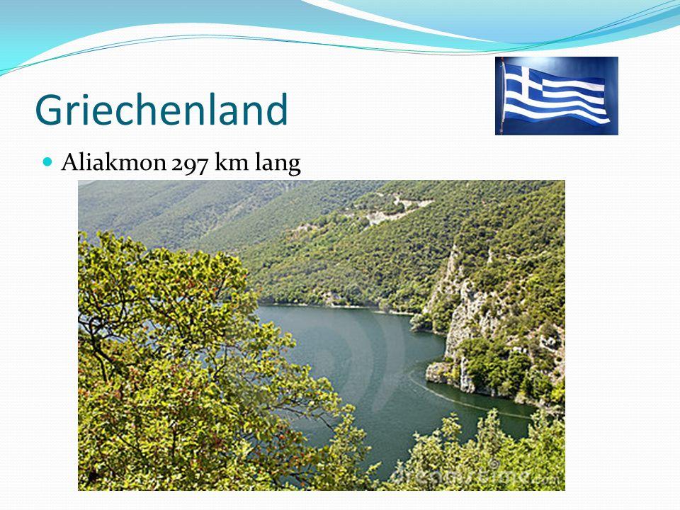 Griechenland Aliakmon 297 km lang