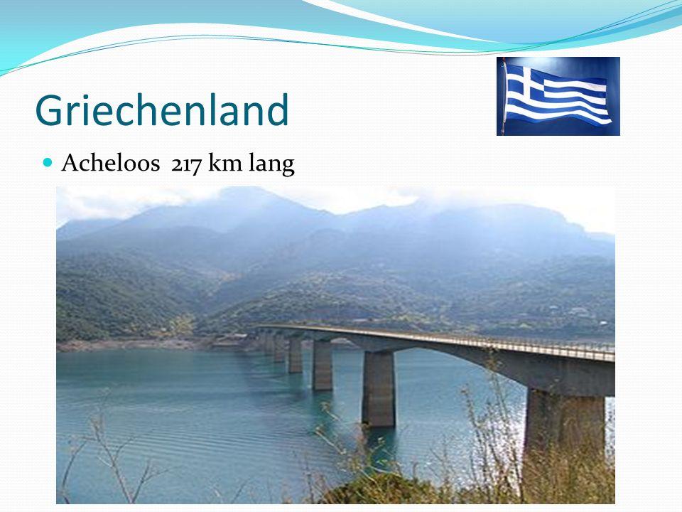 Griechenland Acheloos 217 km lang