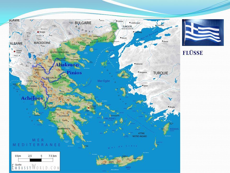 Griechenland Pinios Acheloos Aliakmon FLÜSSE