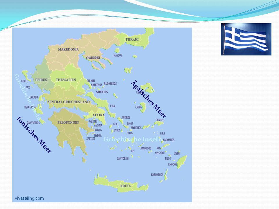 Griechenland Ägäisches Meer Ionisches Meer Griechische Inseln vivasailing.com