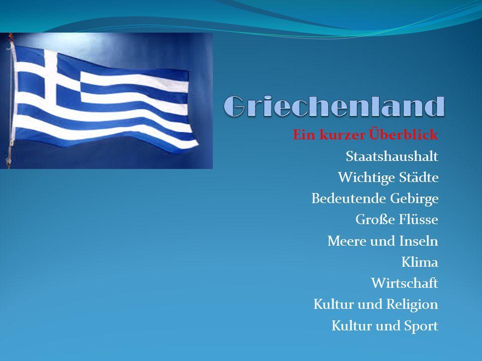 Griechenland Physische Karte