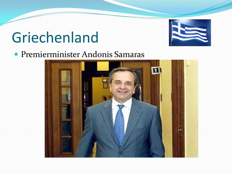 Griechenland Premierminister Andonis Samaras