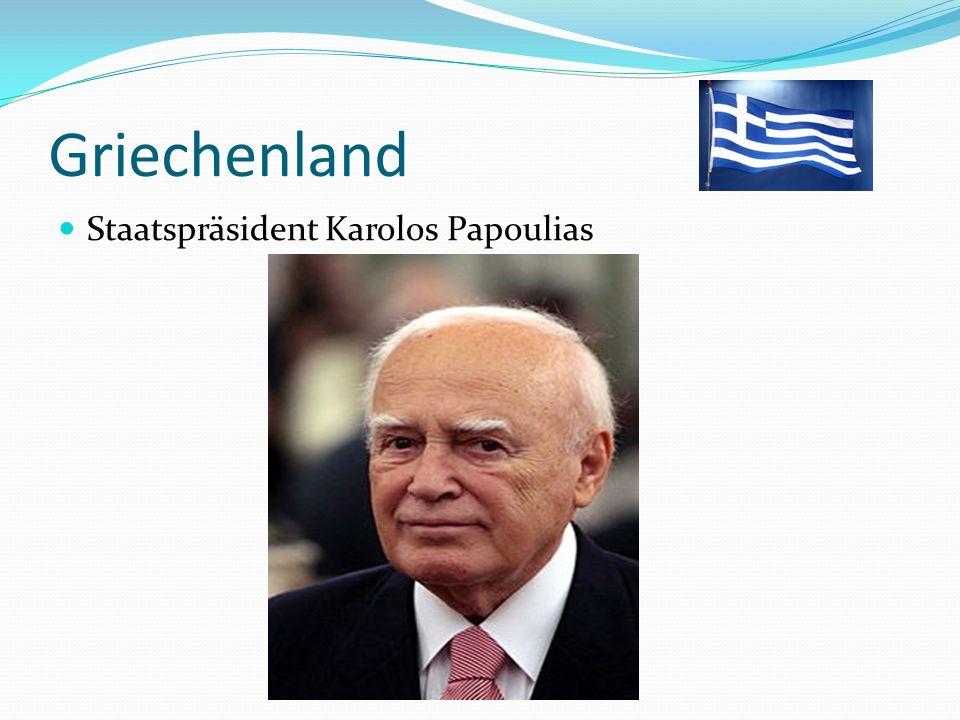 Griechenland Staatspräsident Karolos Papoulias