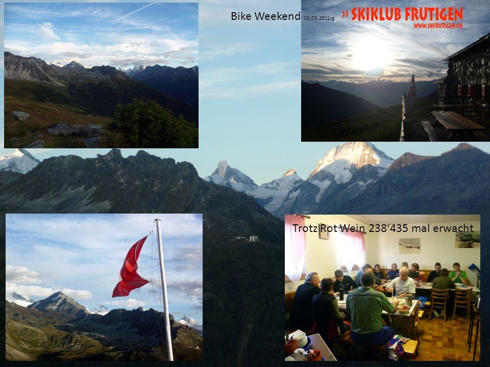 Bike Weekend 15.08.2011rg Richtige Sporternährung 8km den Bissen nach, vom feinsten Frühstück
