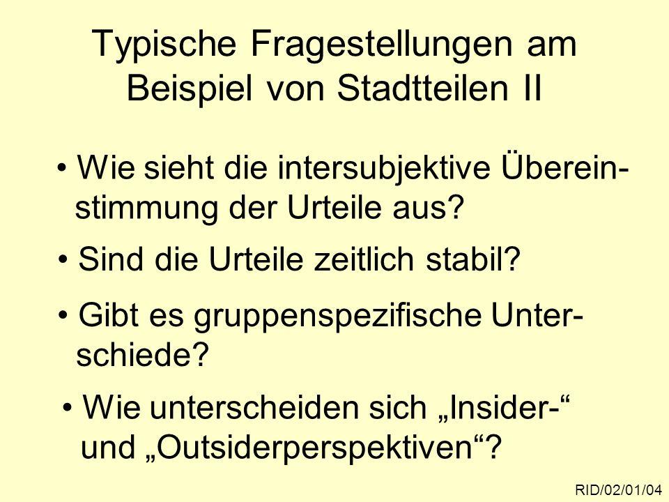 Untersuchungsgebiete in SalzburgRID/02/01/05 Nonntal Aigen Parsch Lehen