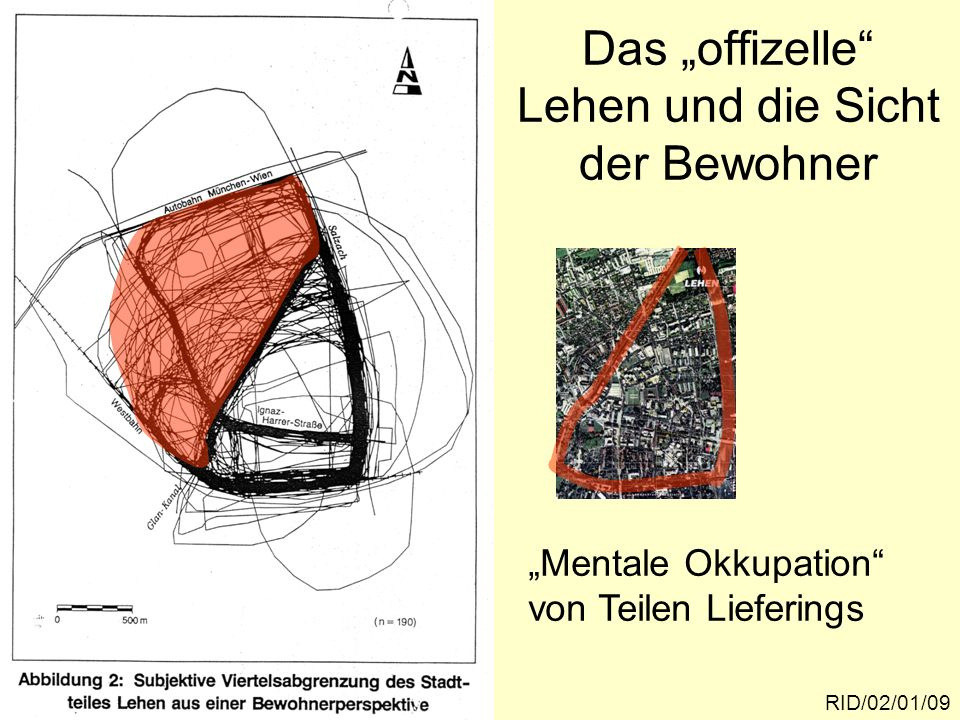 RID/02/01/10 Nennungen pro Zählraster in Prozent der möglichen Nen- nungenIgnaz-Harrer-Straße