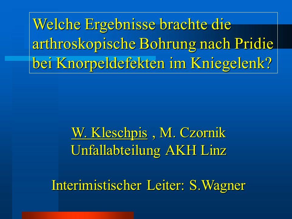 Einführung therapeutisches Problem bei Knorpelschäden geringe Regenerationsfähigkeit von Knorpelgewebe