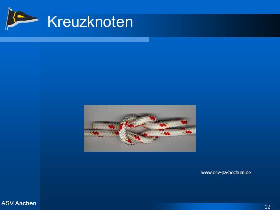 ASV Aachen 12 Kreuzknoten www.dsv-pa-bochum.de