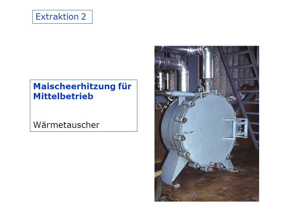 Extraktion 2 Maischeerhitzung für Mittelbetrieb Wärmetauscher