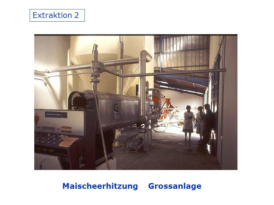 Extraktion 2 Maischeerhitzung Grossanlage