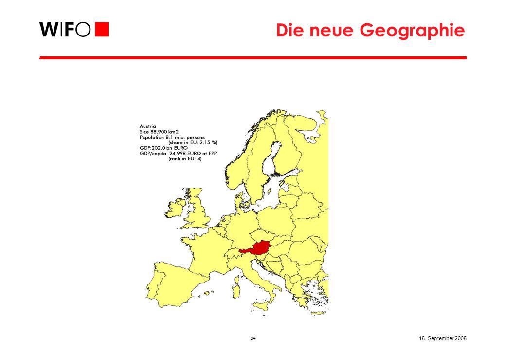 34 15. September 2005 Die neue Geographie