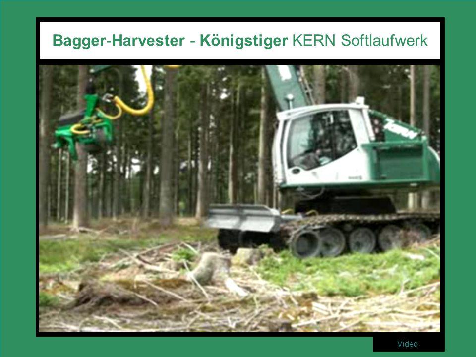 Bagger-Harvester - Königstiger KERN Softlaufwerk Video