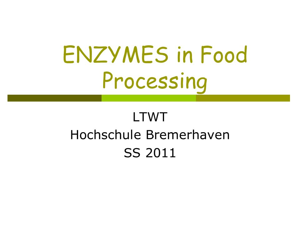 Properties of enzymes Control ripening.Cause food spoilage (rotting).