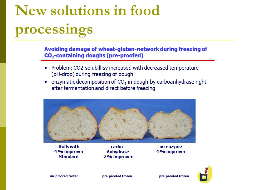 New solutions in food processings