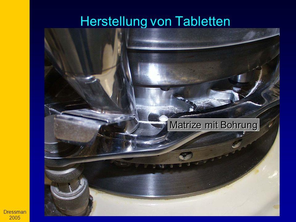 Dressman 2005 10 Herstellung von Tabletten Matrize mit Bohrung
