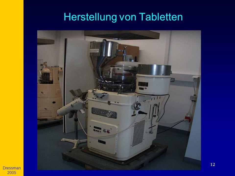 Dressman 2005 12 Herstellung von Tabletten