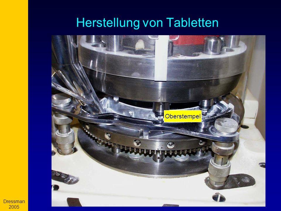 Dressman 2005 9 Herstellung von Tabletten Oberstempel