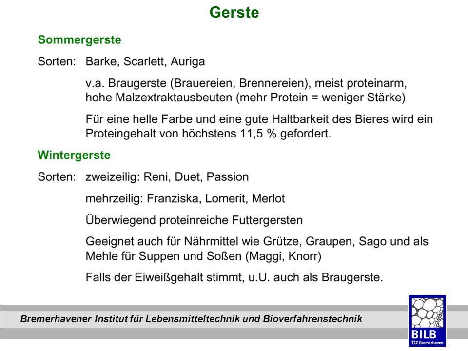 Bremerhavener Institut für Lebensmitteltechnik und Bioverfahrenstechnik Dateinamen Gerste