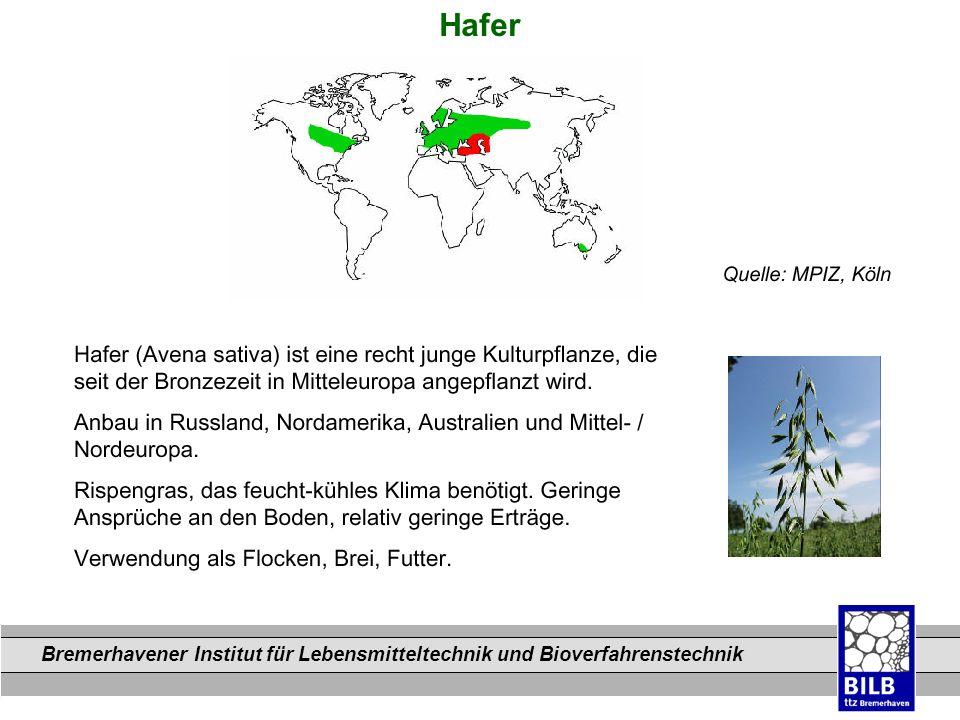 Bremerhavener Institut für Lebensmitteltechnik und Bioverfahrenstechnik Dateinamen Hafer