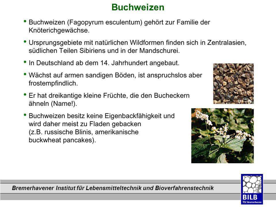 Bremerhavener Institut für Lebensmitteltechnik und Bioverfahrenstechnik Dateinamen Buchweizen