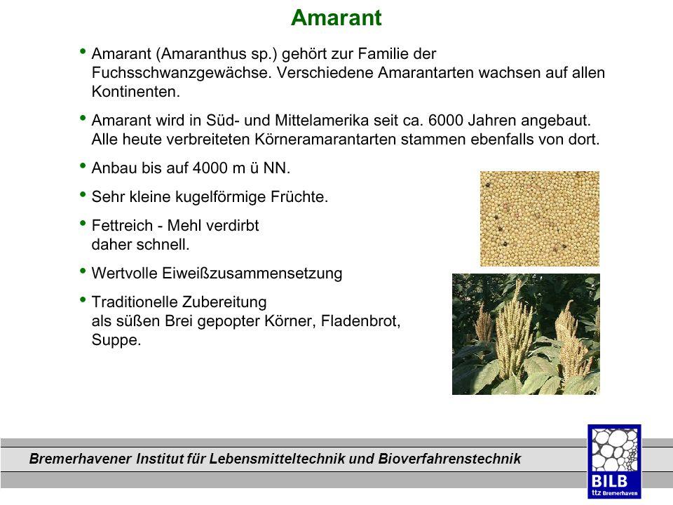 Bremerhavener Institut für Lebensmitteltechnik und Bioverfahrenstechnik Dateinamen Amarant