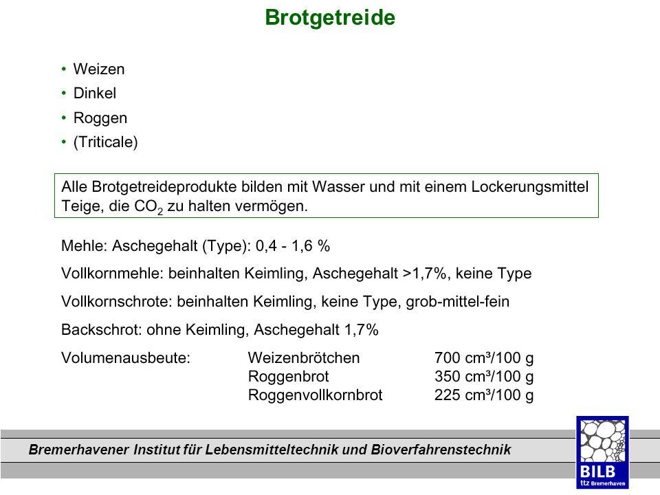 Bremerhavener Institut für Lebensmitteltechnik und Bioverfahrenstechnik Dateinamen Brotgetreide