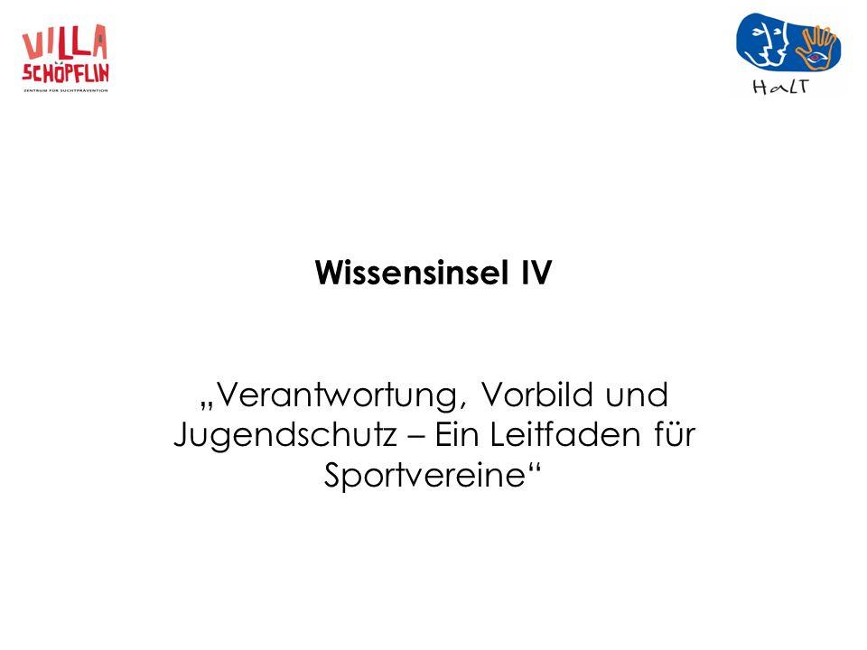 Wissensinsel IV Verantwortung, Vorbild und Jugendschutz – Ein Leitfaden für Sportvereine