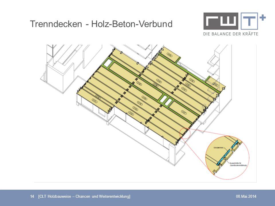 14 [CLT Holzbauweise – Chancen und Weiterentwicklung]08.Mai.2014 Trenndecken - Holz-Beton-Verbund