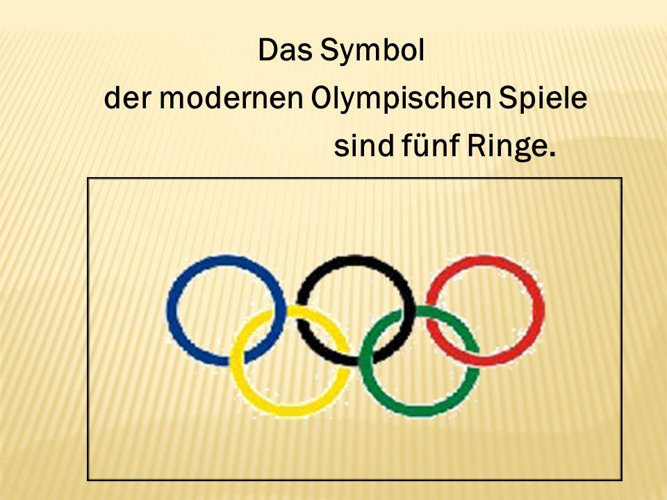 Das Symbol der modernen Olympischen Spiele sind fünf Ringe.