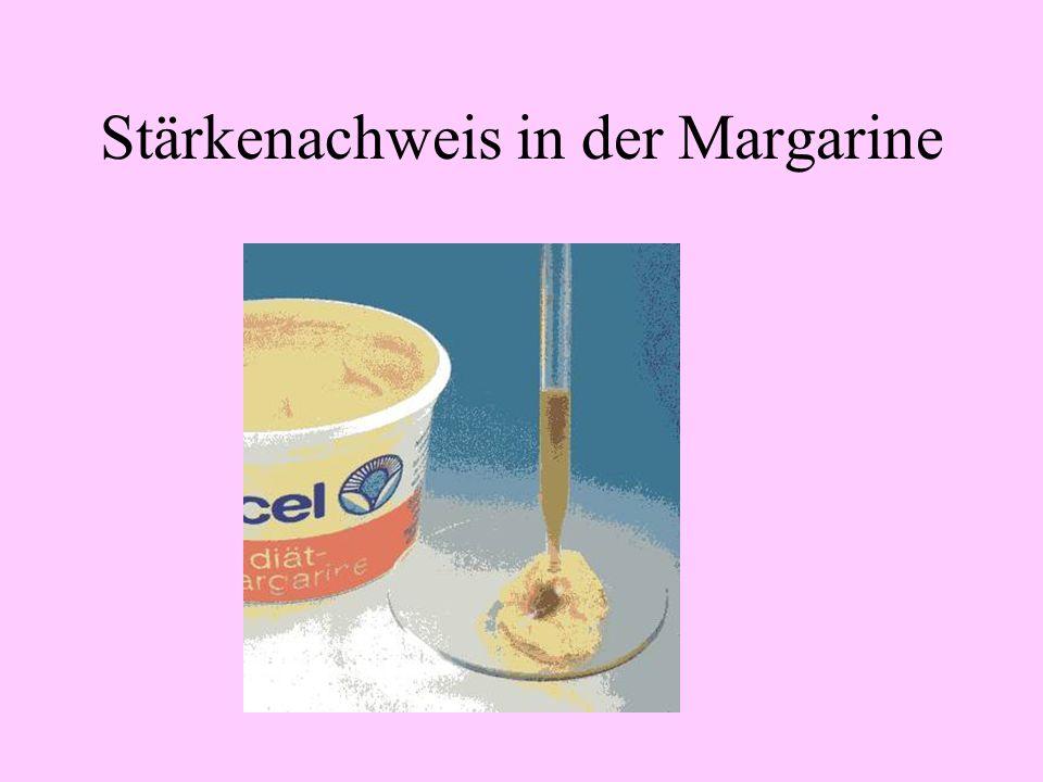 Fettreduzierte Margarinearten Fettphase mit Carotin Wasserphase mit Inulin oder Stärke Ceres