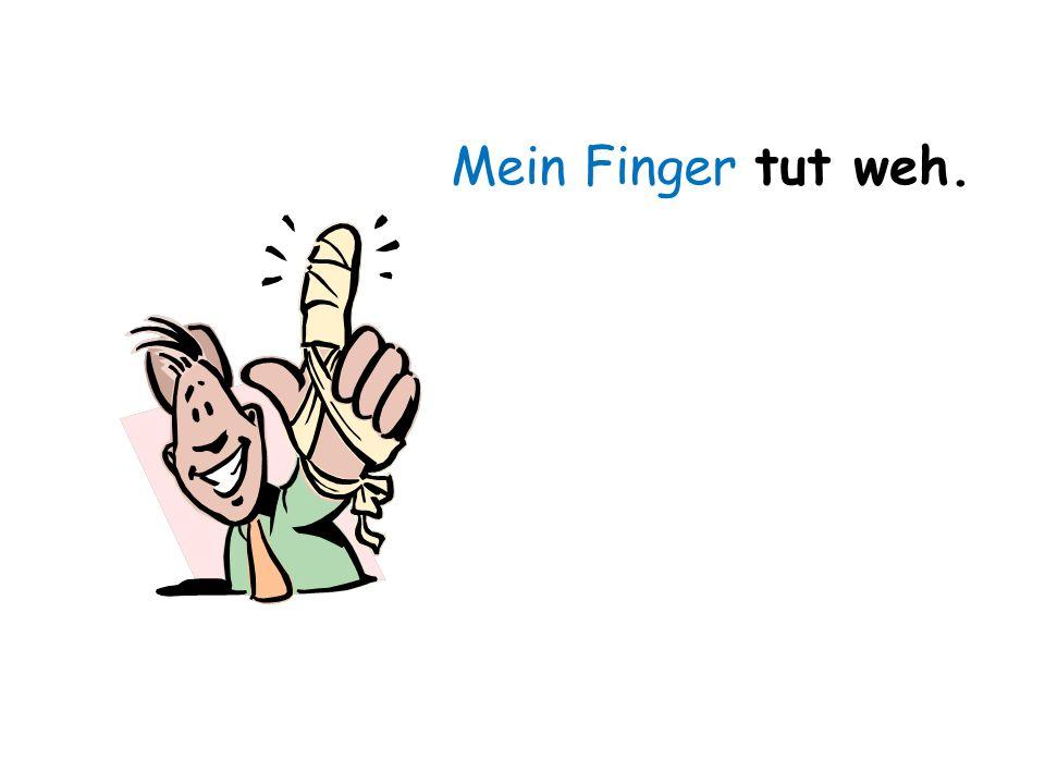 Mein Finger tut weh.