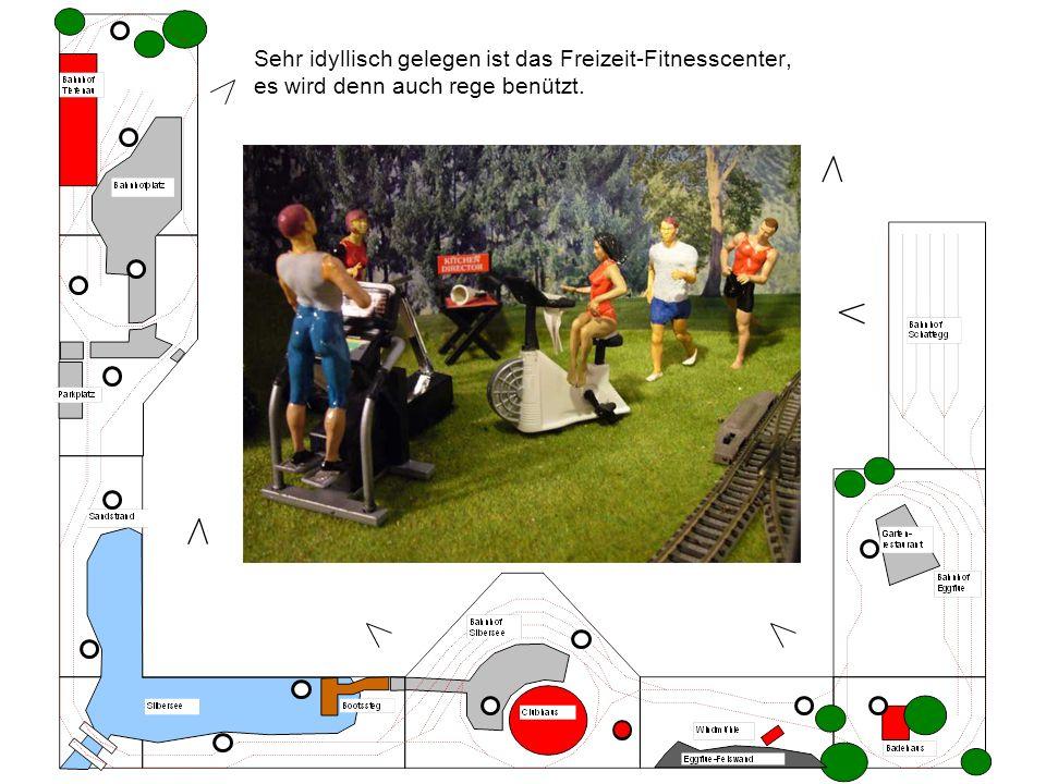 Sehr idyllisch gelegen ist das Freizeit-Fitnesscenter, es wird denn auch rege benützt.