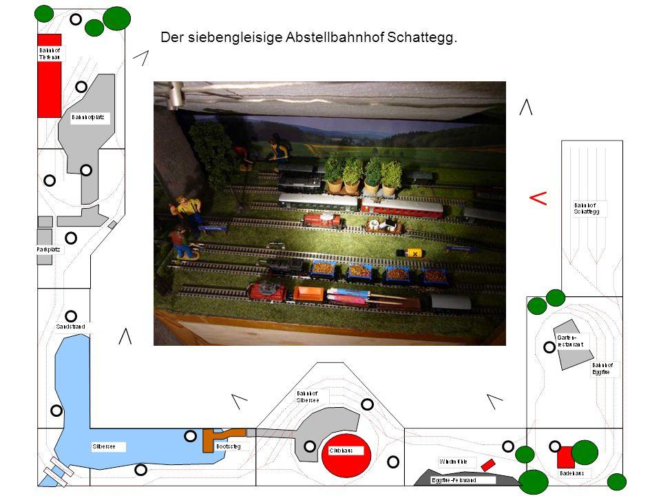 Der siebengleisige Abstellbahnhof Schattegg.