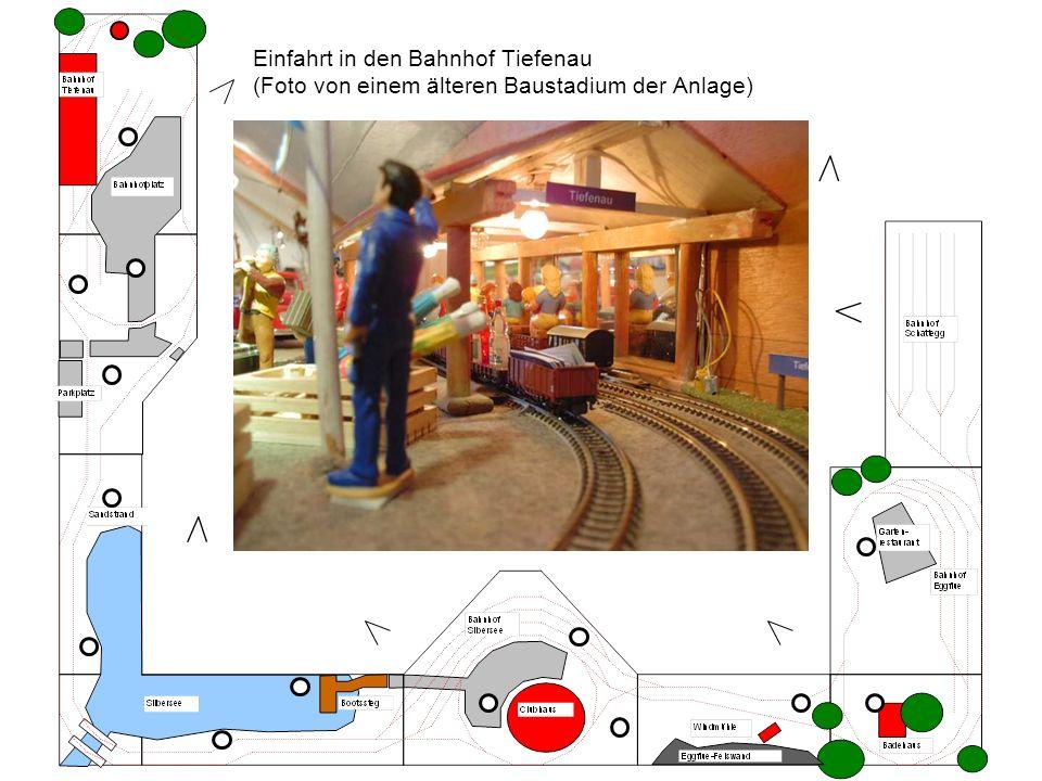 Einfahrt in den Bahnhof Tiefenau (Foto von einem älteren Baustadium der Anlage)