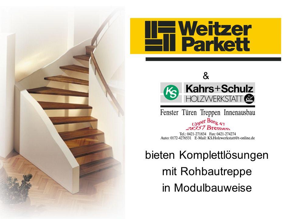 bieten Komplettlösungen mit Rohbautreppe in Modulbauweise &