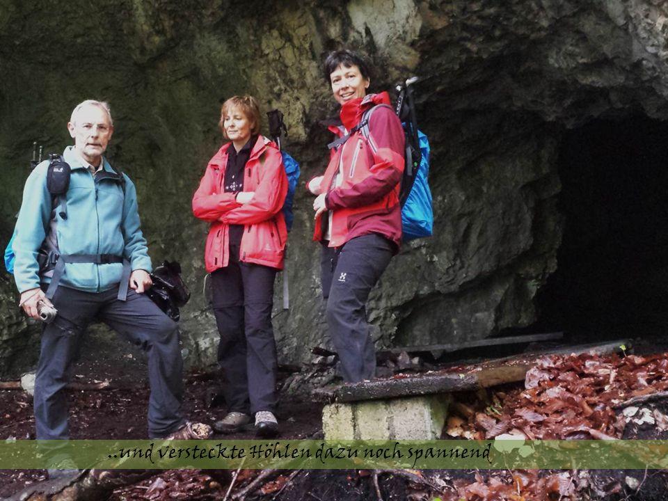 ..und versteckte Höhlen dazu noch spannend