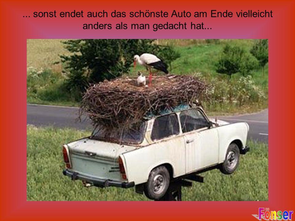 ... sonst endet auch das schönste Auto am Ende vielleicht anders als man gedacht hat...