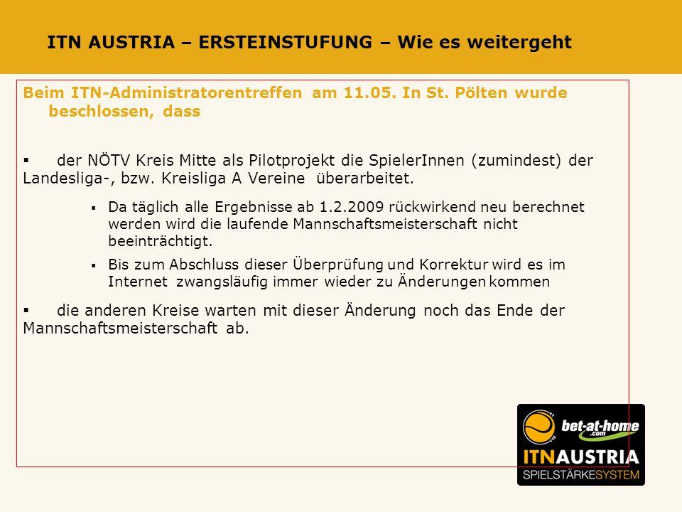 ITN AUSTRIA – ERSTEINSTUFUNG – Wie es weitergeht Beim ITN-Administratorentreffen am 11.05.