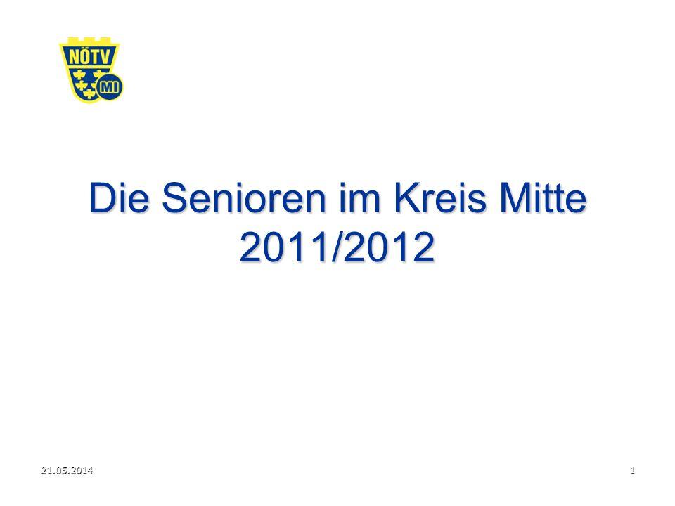 21.05.20141 Die Senioren im Kreis Mitte 2011/2012