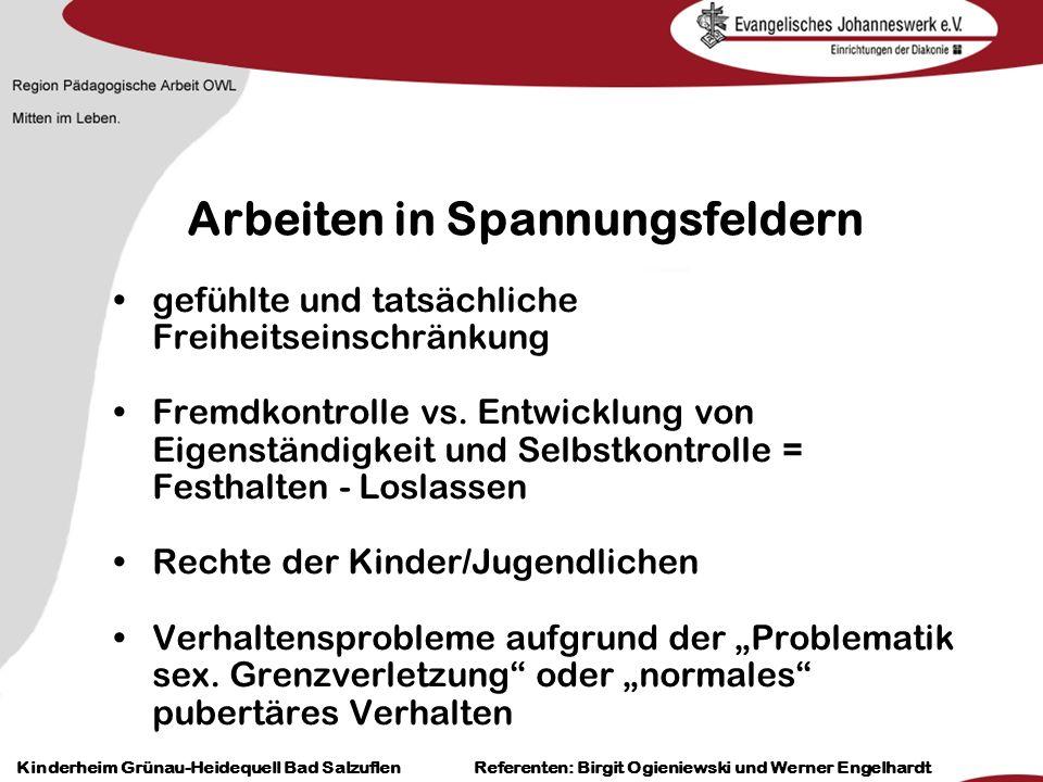 Heilpädagogisch- therapeutische Einrichtungen Grünau-Heidequell Bad Salzuflen Birgit Ogieniewski Kinderheim Grünau-Heidequell Bad Salzuflen Referenten