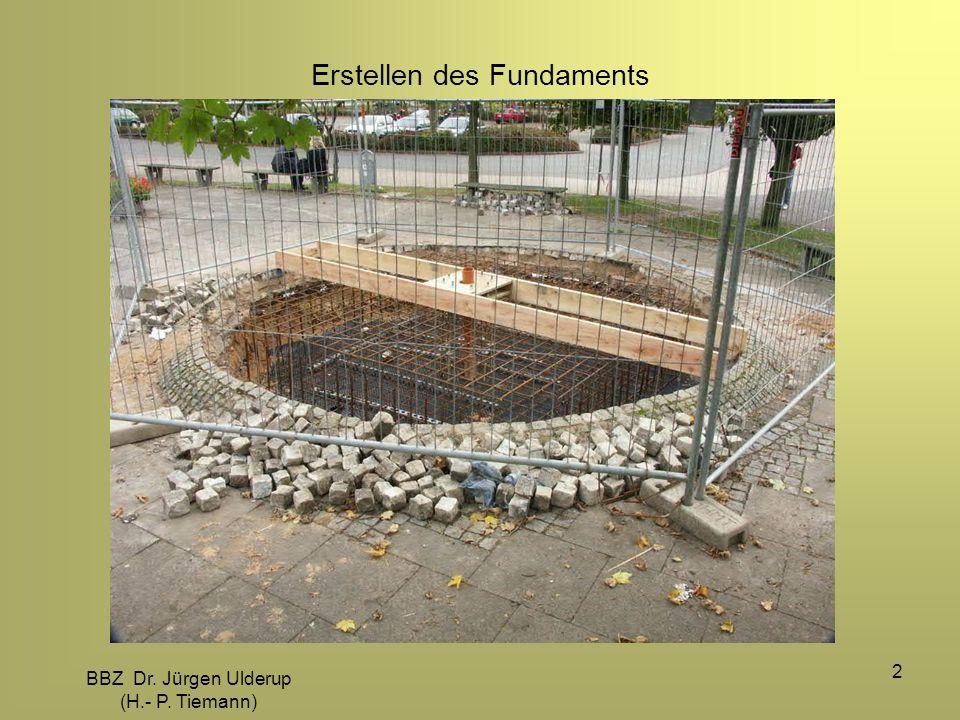 BBZ Dr. Jürgen Ulderup (H.- P. Tiemann) 2 Erstellen des Fundaments