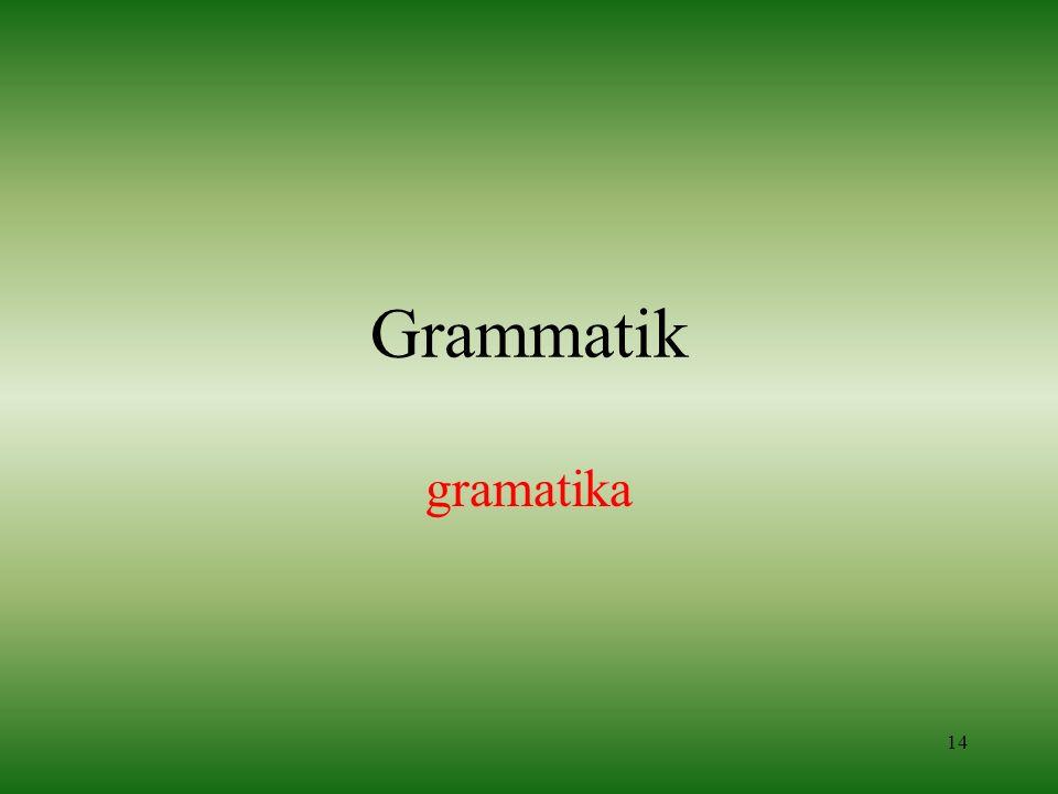 14 Grammatik gramatika