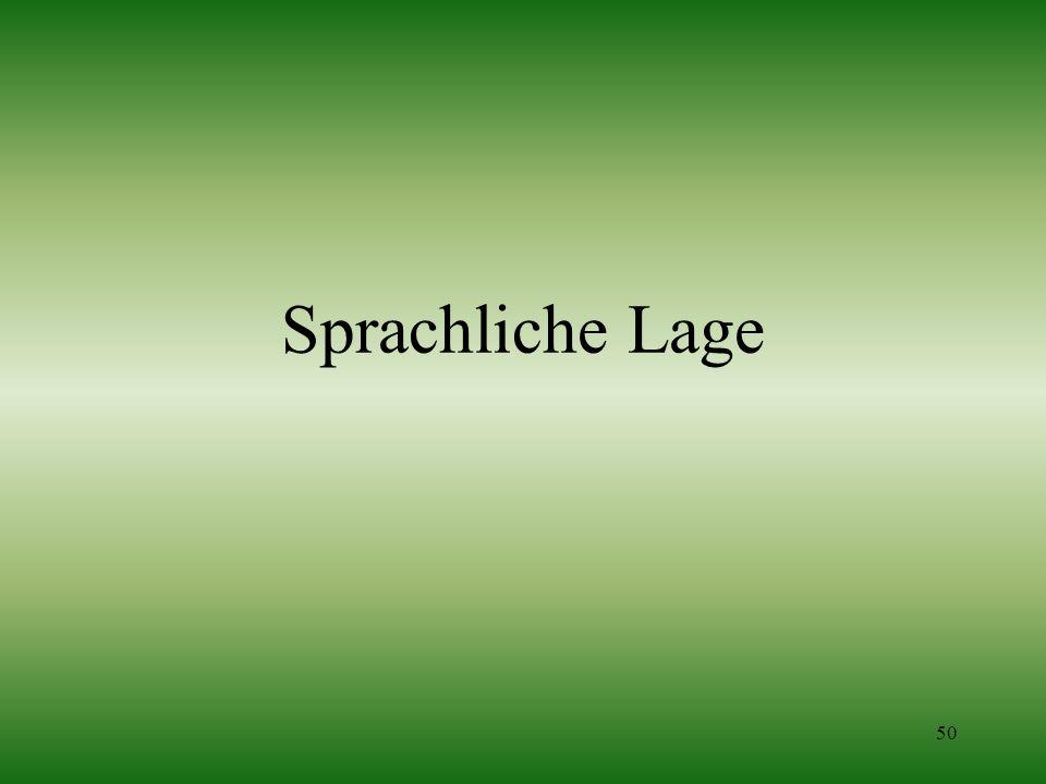 50 Sprachliche Lage