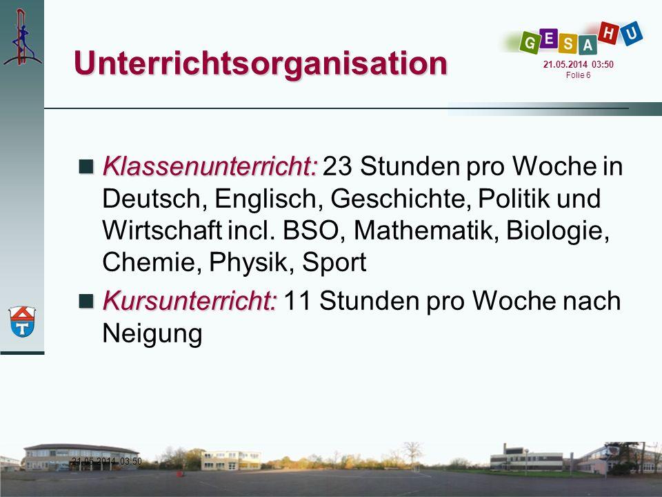 21.05.2014 03:51 21.05.2014 03:51 Folie 17 Qualifikationsphase Der Stundenplan orientiert sich an den Schülerwünschen.